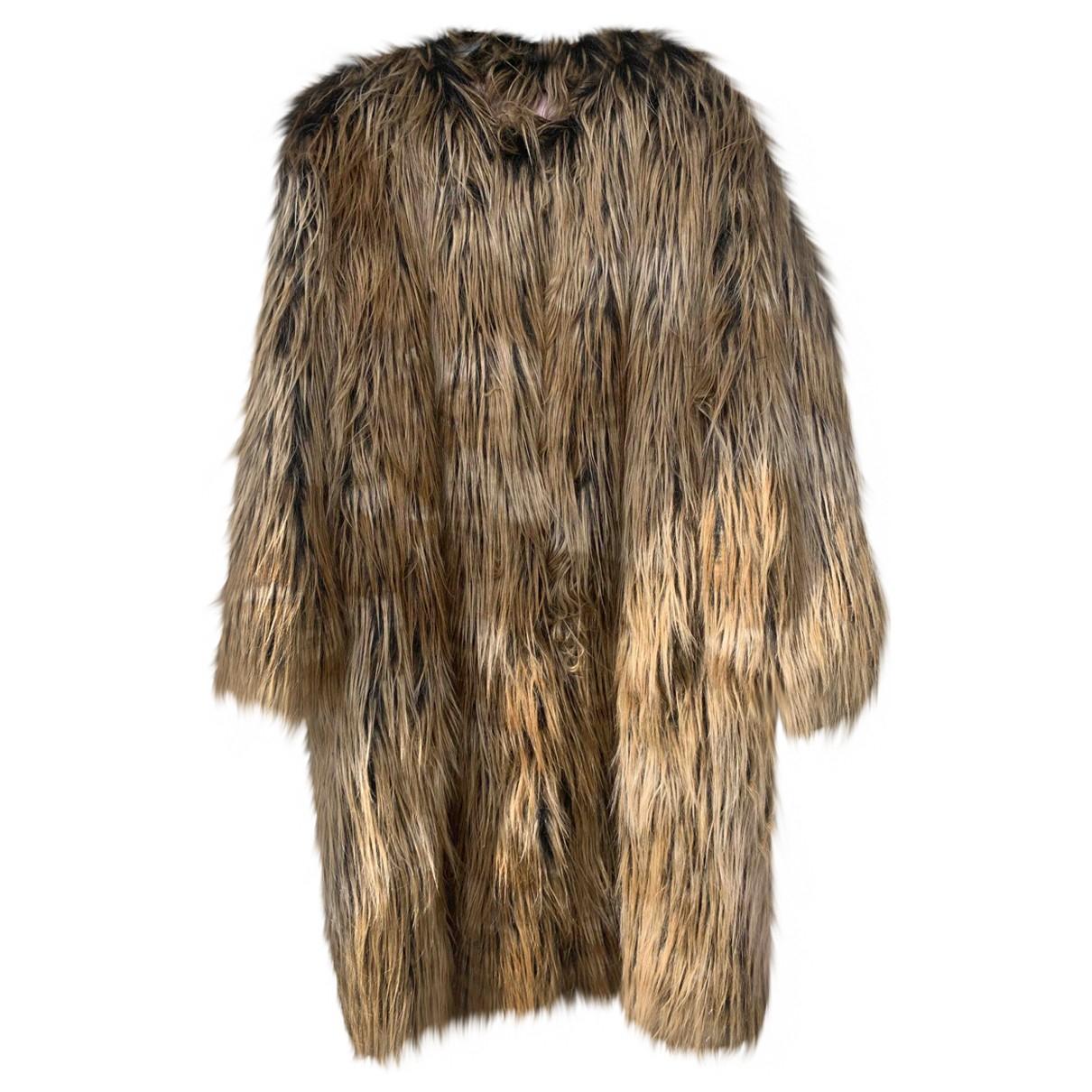 De Hart - Manteau   pour femme en fourrure synthetique - beige