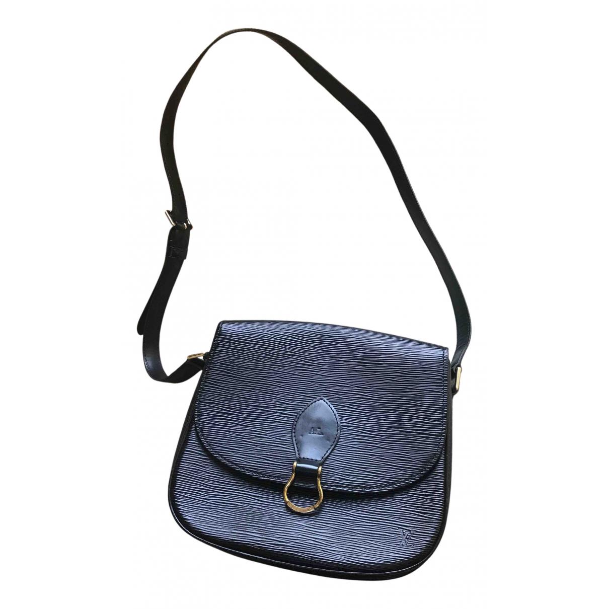 Louis Vuitton Saint Cloud Black Leather handbag for Women N