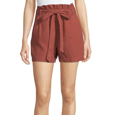 a.n.a Womens Paperbag Waist Short, X-large , Pink