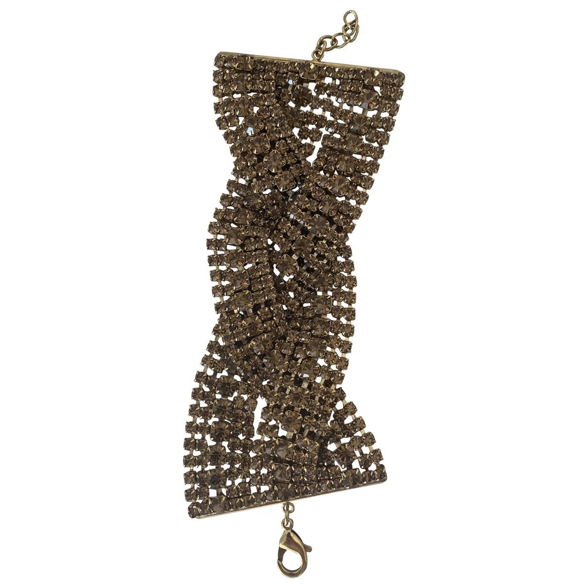 - Bracelet Manchette pour femme en cristal - marron