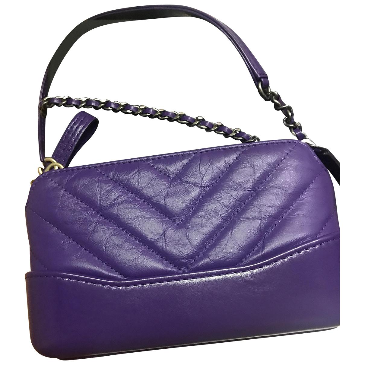 Chanel Gabrielle Purple Leather handbag for Women \N