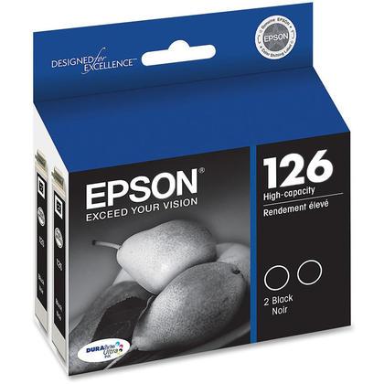 Epson 126 T126120-D2 cartouche d'encre originale noire haute capacit� - paquet double