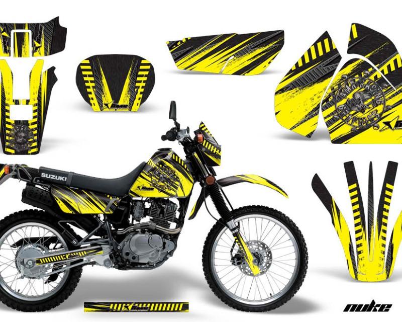AMR Racing Dirt Bike Graphics Kit Decal Sticker Wrap For Suzuki DRZ200SE 1996-2009áNUKE YELLOW BLACK