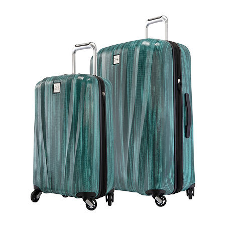 Skyway Ballard 2 PC Teal Set Hardside Luggage, One Size , Green