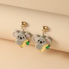 Girls Koala Drop Earrings