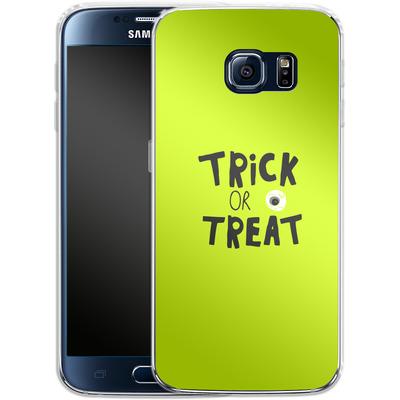 Samsung Galaxy S6 Silikon Handyhuelle - Trick or Treat von caseable Designs