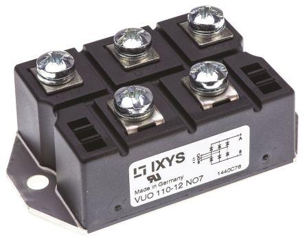 IXYS VUO110-12NO7, 3-phase Bridge Rectifier Module, 127A 1200V, 5-Pin PWS E 1