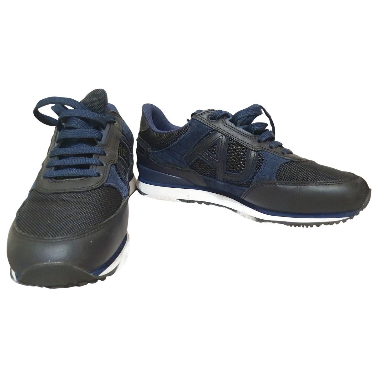 Armani Jeans \N Sneakers in  Marine Leder