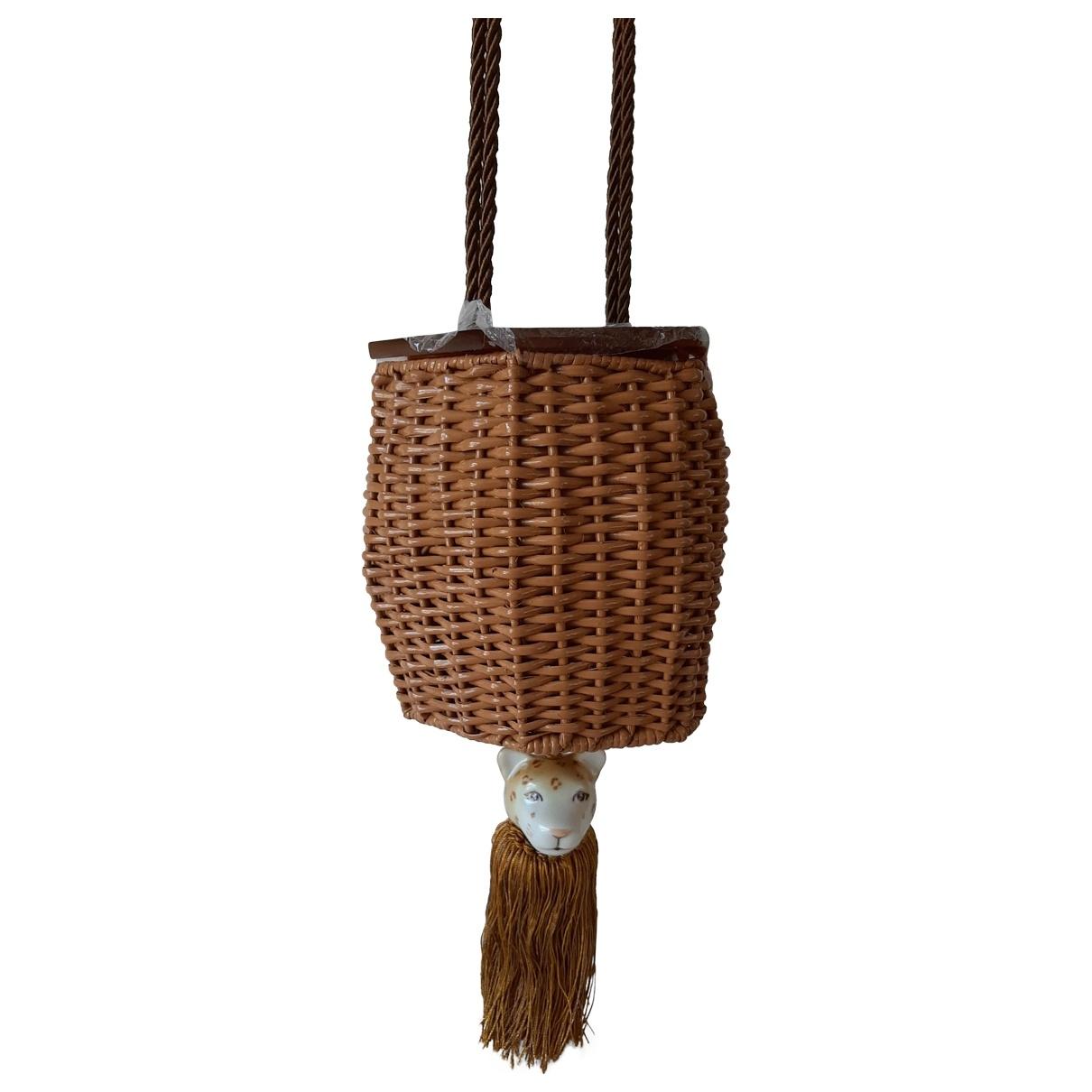 Wai Wai \N Handtasche in  Braun Stroh