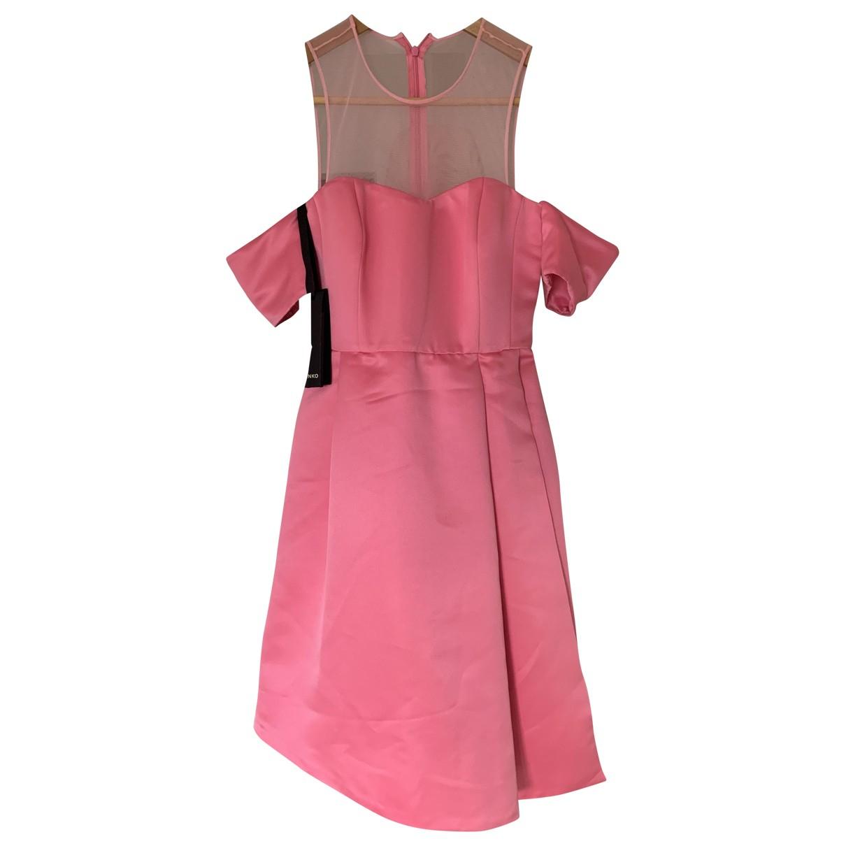 Pinko \N Kleid in  Rosa Synthetik