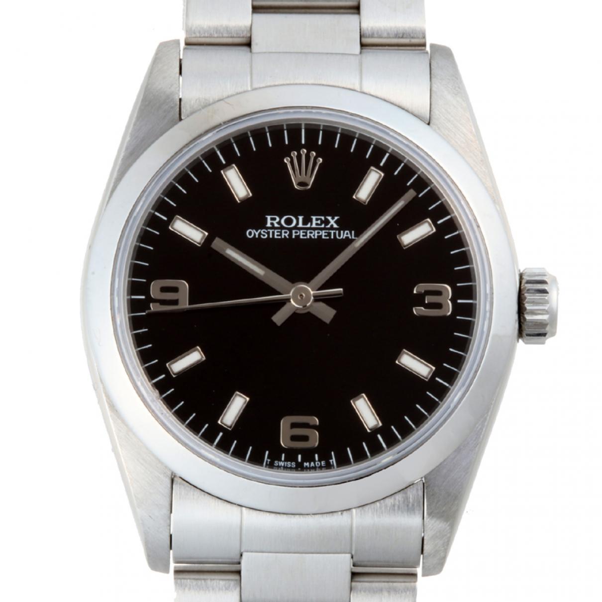 Rolex Oyster Perpetual 31mm Black Steel watch for Women \N