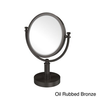 Allied Brass 8-inch 4x Magnification Vanity Top Make-up Mirror (Oil Rubbed Bronze - Bathroom-Vanity)