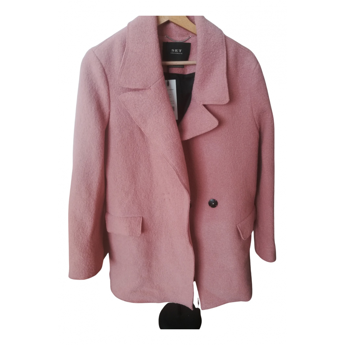 Set N Pink Wool coat for Women 44 IT
