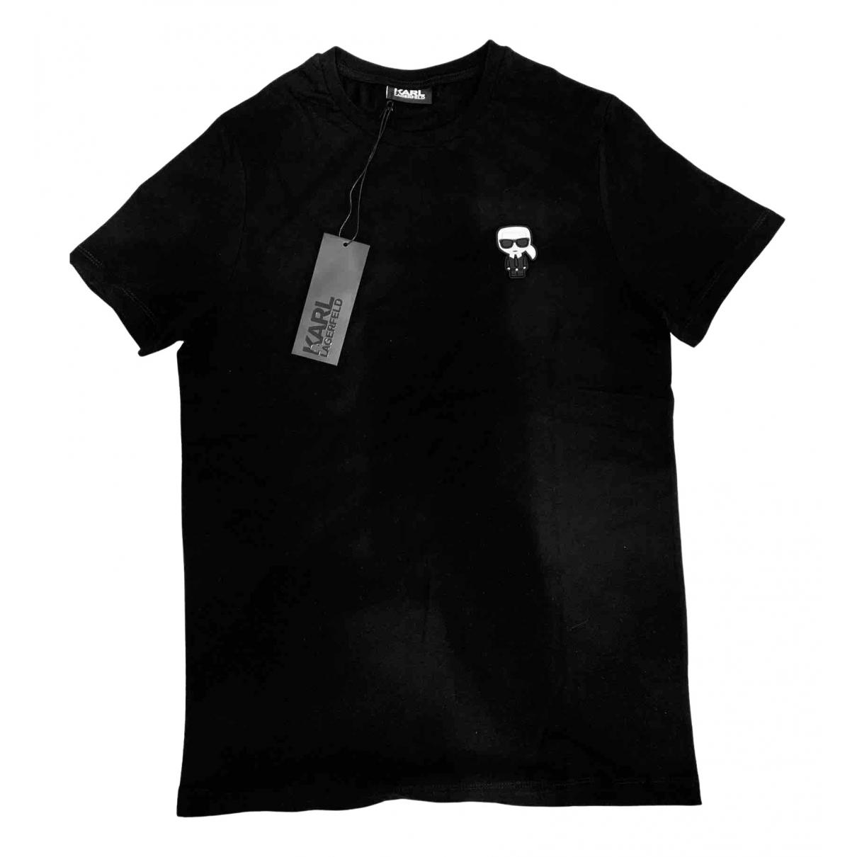 Karl Lagerfeld \N Black Cotton T-shirts for Men S International