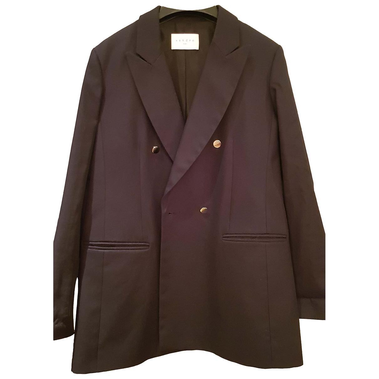 Sandro Fall Winter 2019 Blue Cotton jacket for Women 38 FR