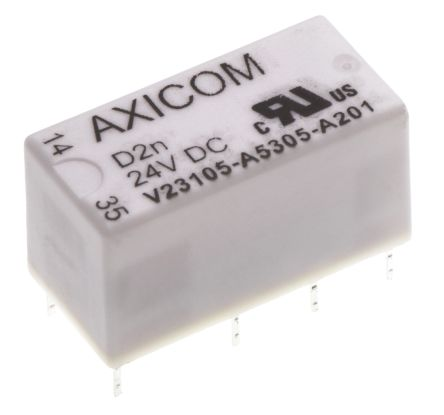 TE Connectivity , 24V dc Coil Non-Latching Relay DPDT, 3A Switching Current PCB Mount, 2 Pole