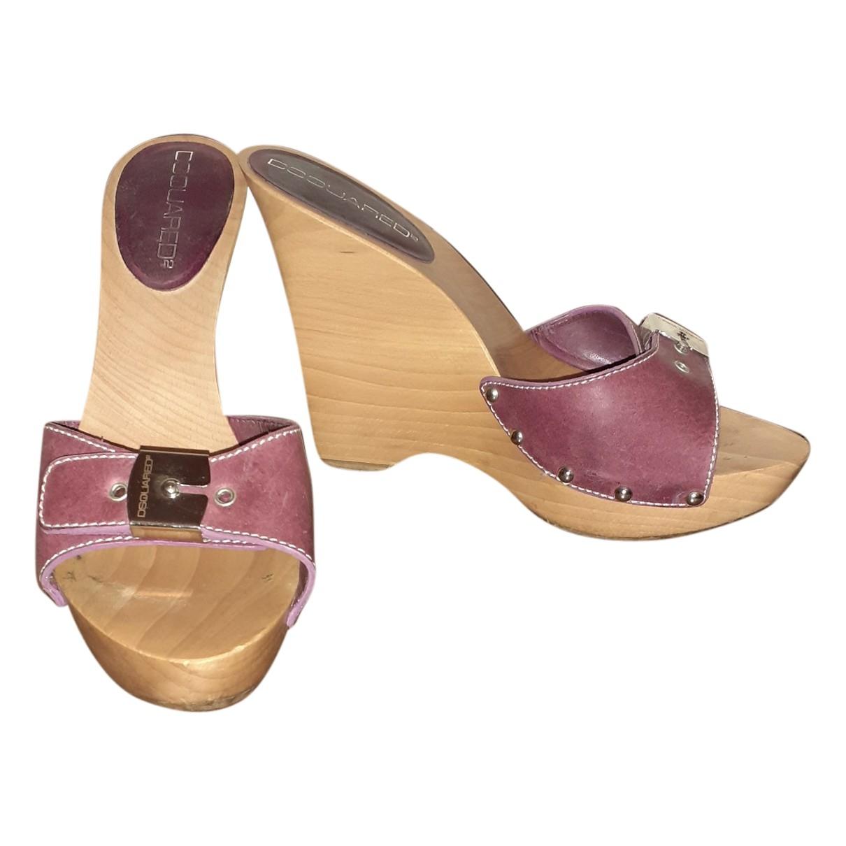 Dsquared2 - Sandales   pour femme en cuir - violet