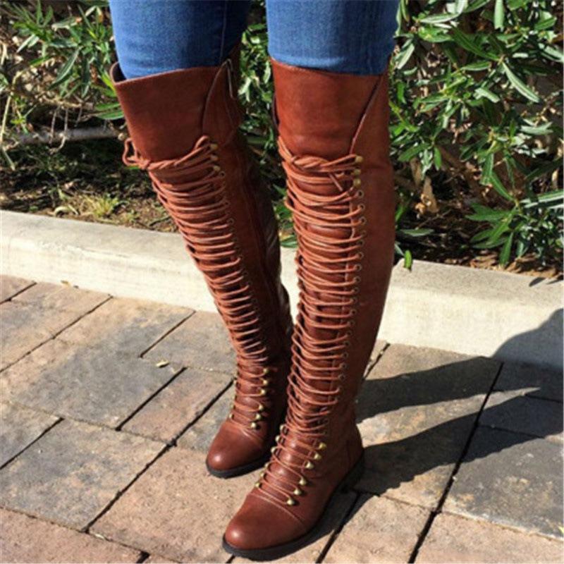 Ericdress Side Zipper Plain Round Toe Women's Knee High Boots