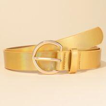 Metallic Buckle Belt