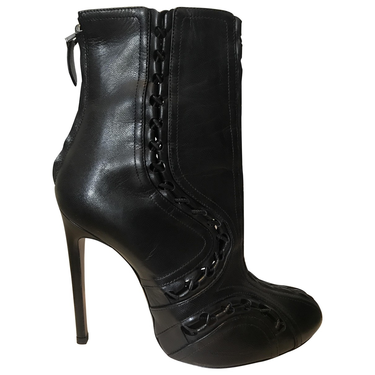 Alaïa \N Black Leather Ankle boots for Women 40 EU