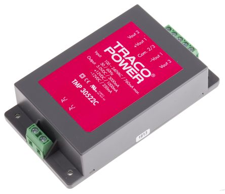 TRACOPOWER , 30W Embedded Switch Mode Power Supply SMPS, 5 V dc, ±12 V dc, Encapsulated