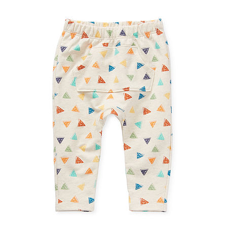 Okie Dokie Baby Boys Straight Pull-On Pants, 9 Months , White