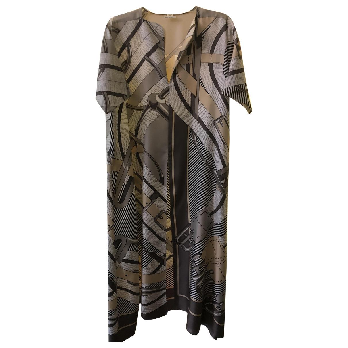 Hermès \N Grey Silk dress for Women 34 FR
