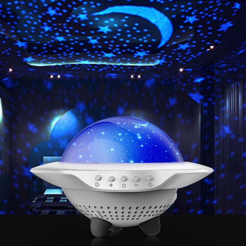 Star Projector Rotating Projection Lamp Starry Sky Projection Lamp Companion Night Light