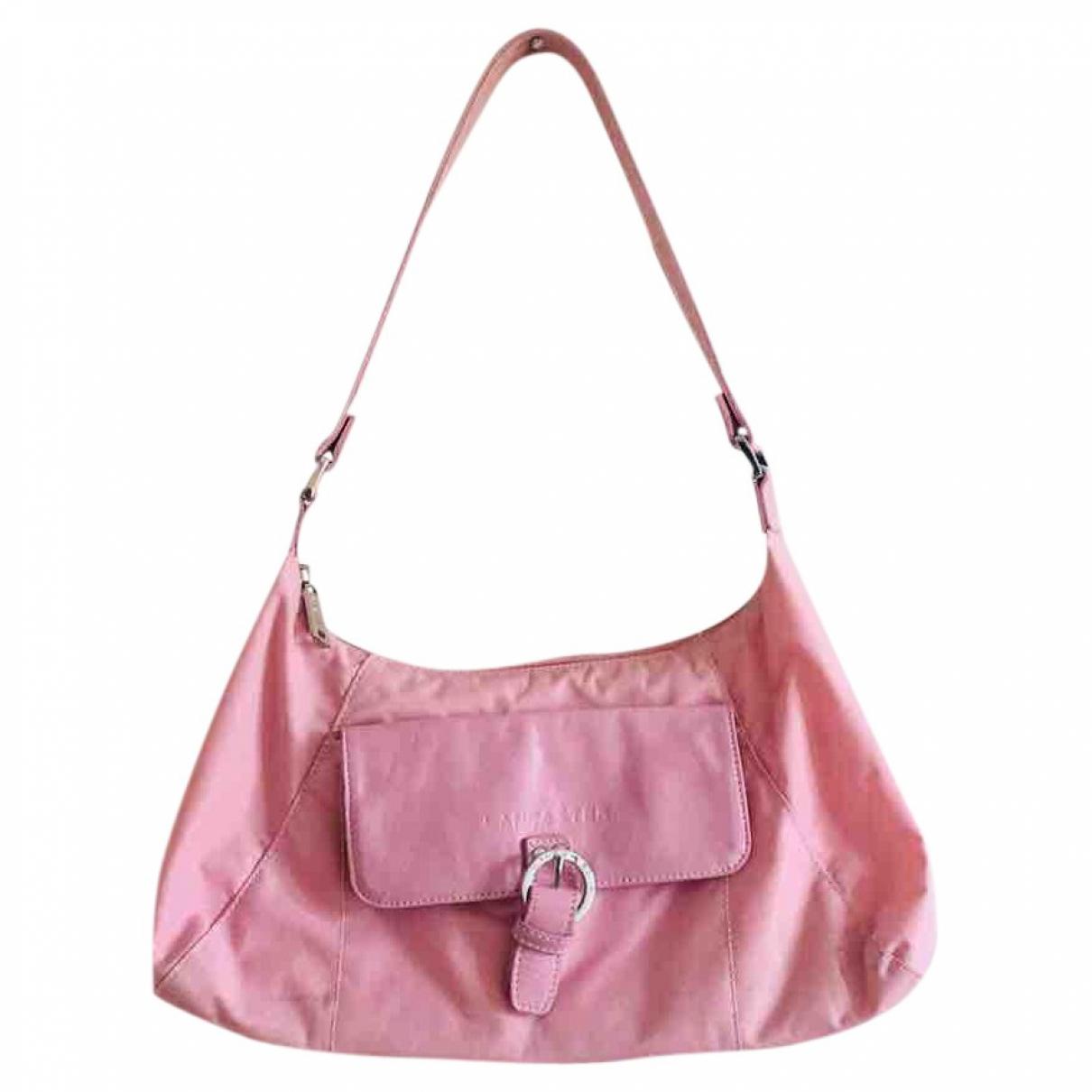 Lancaster \N Handtasche in  Rosa Leinen