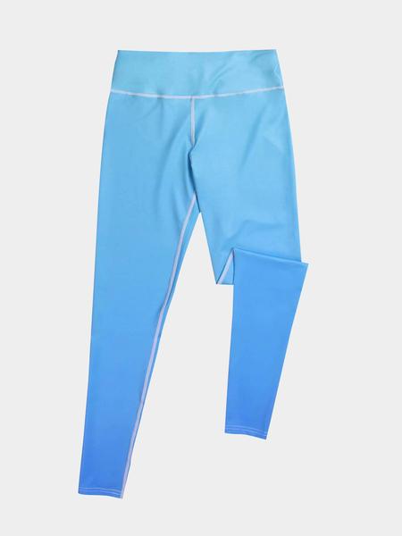 Yoins Active Random Elastic Waist Gradient Leggings in Blue