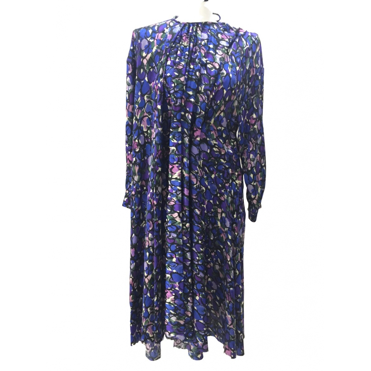 Balenciaga \N Kleid in  Blau Seide