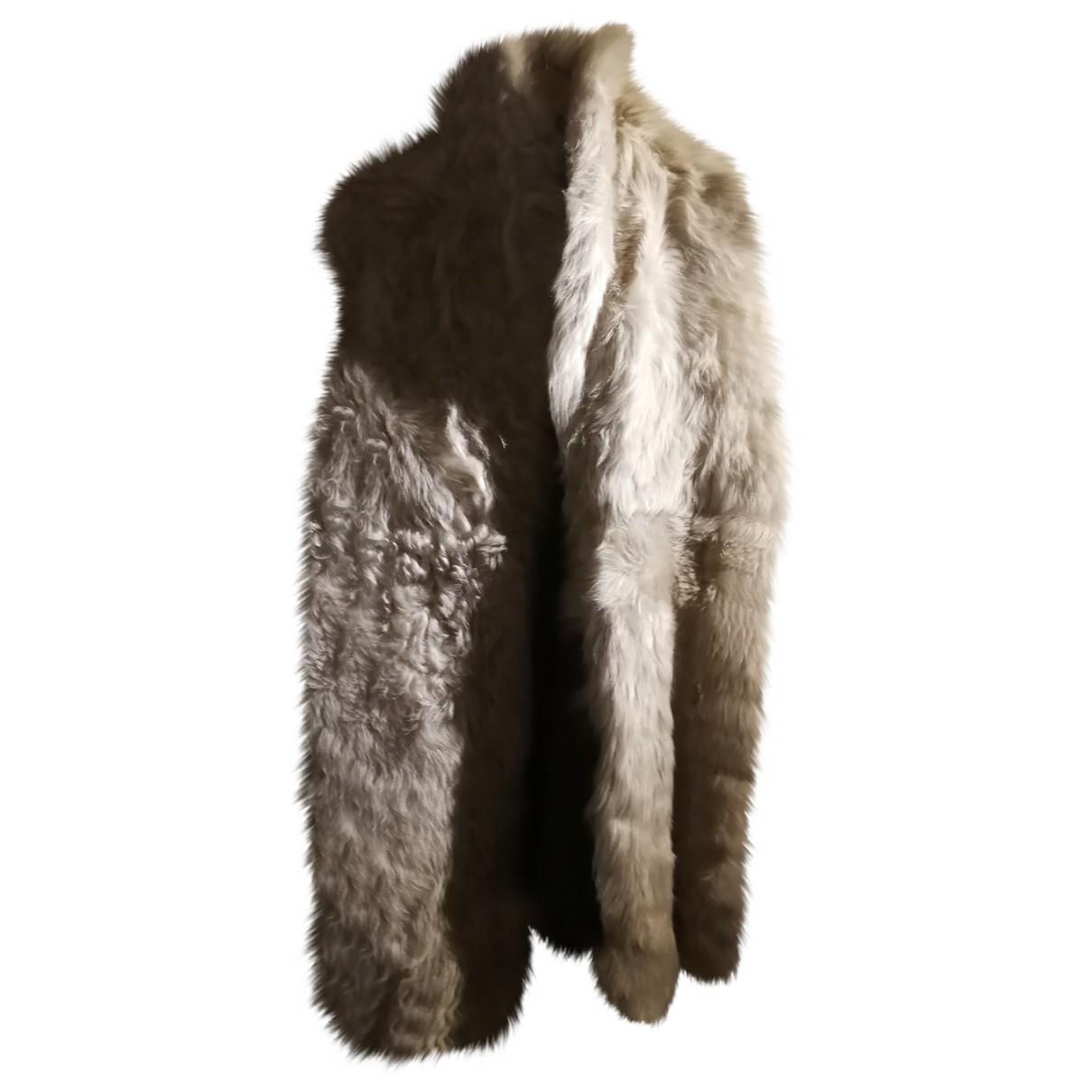 Zara \N Beige Leather coat for Women 38 FR