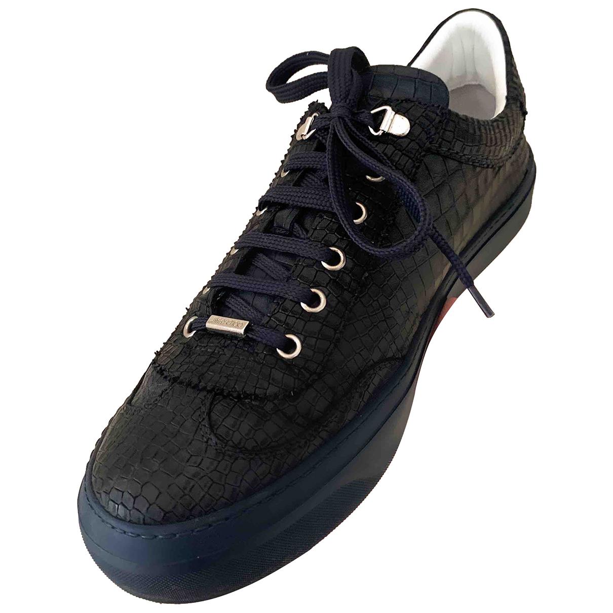 Jimmy Choo N Blue Leather Trainers for Men 43.5 EU