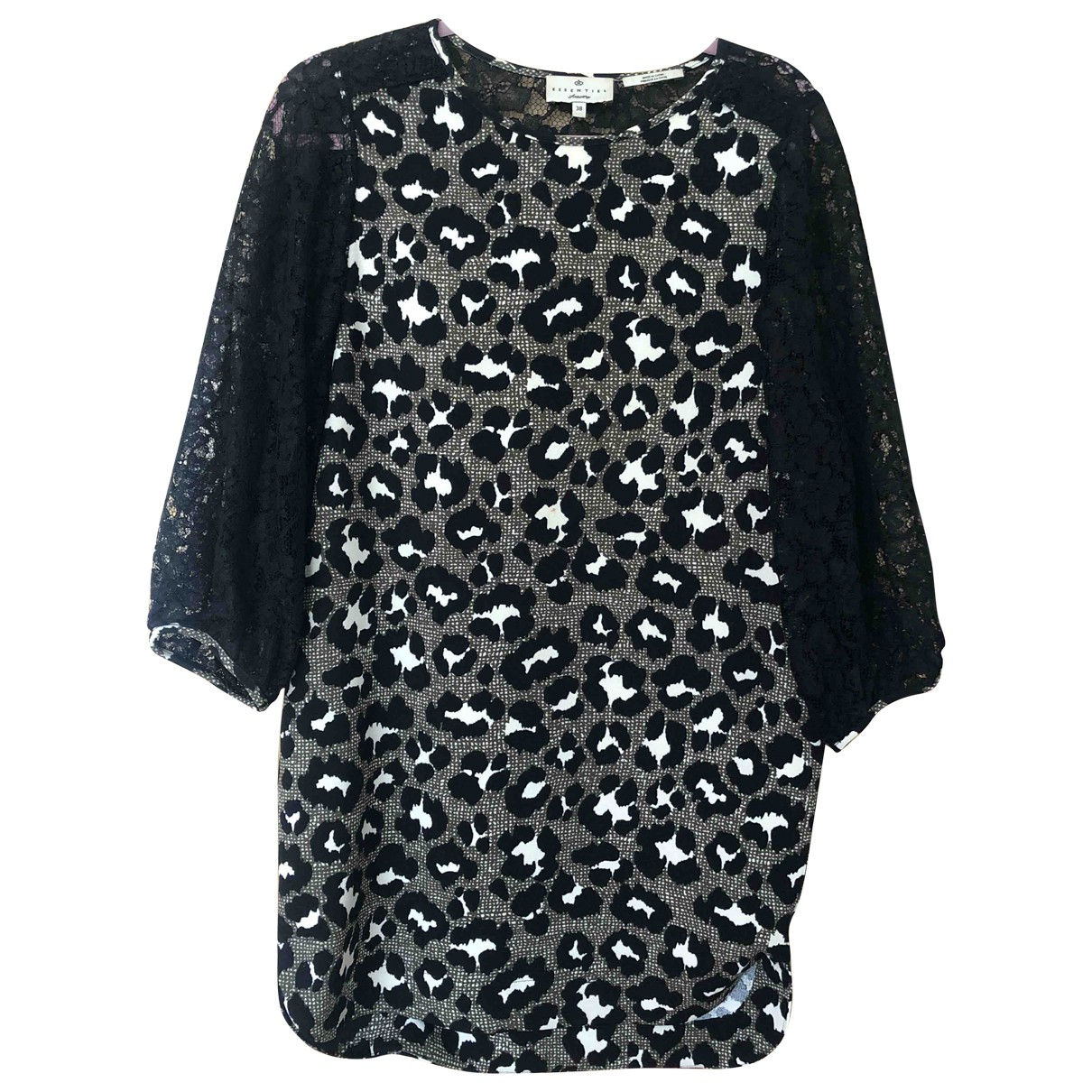 Essentiel Antwerp \N Kleid in  Schwarz Polyester