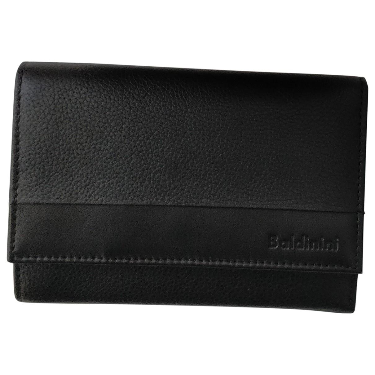 Baldinini \N Portemonnaie in  Schwarz Leder