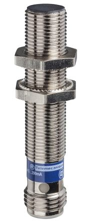 Telemecanique Sensors M12 x 1 Inductive Sensor - Barrel, PNP-NC Output, 4 mm Detection, IP65, IP67, M12 - 4 Pin Terminal