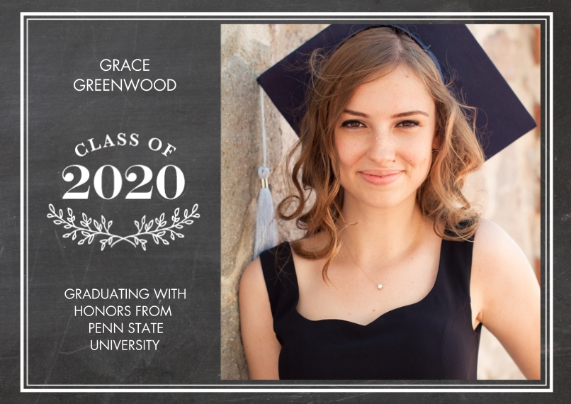 2020 Graduation Announcements 5x7 Cards, Premium Cardstock 120lb, Card & Stationery -Grad 2020 Branches by Tumbalina