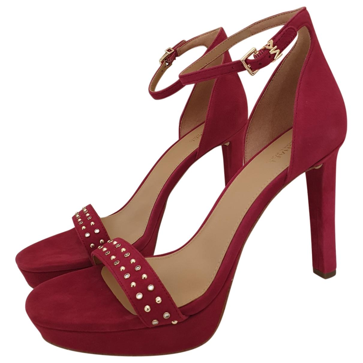 Michael Kors \N Red Leather Heels for Women 40 EU