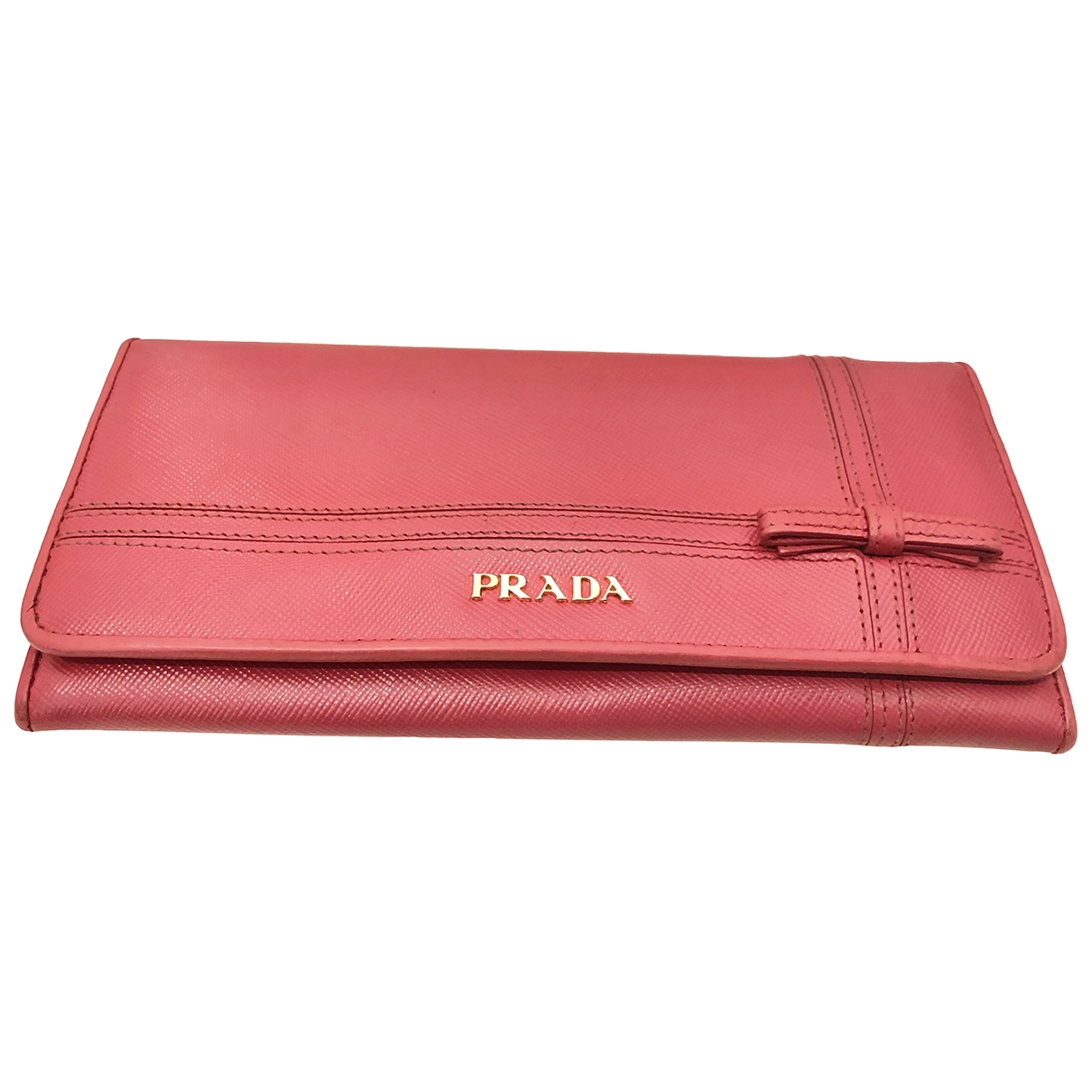 Prada \N Pink Leather wallet for Women \N