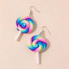 Rainbow Lollipop Drop Earrings