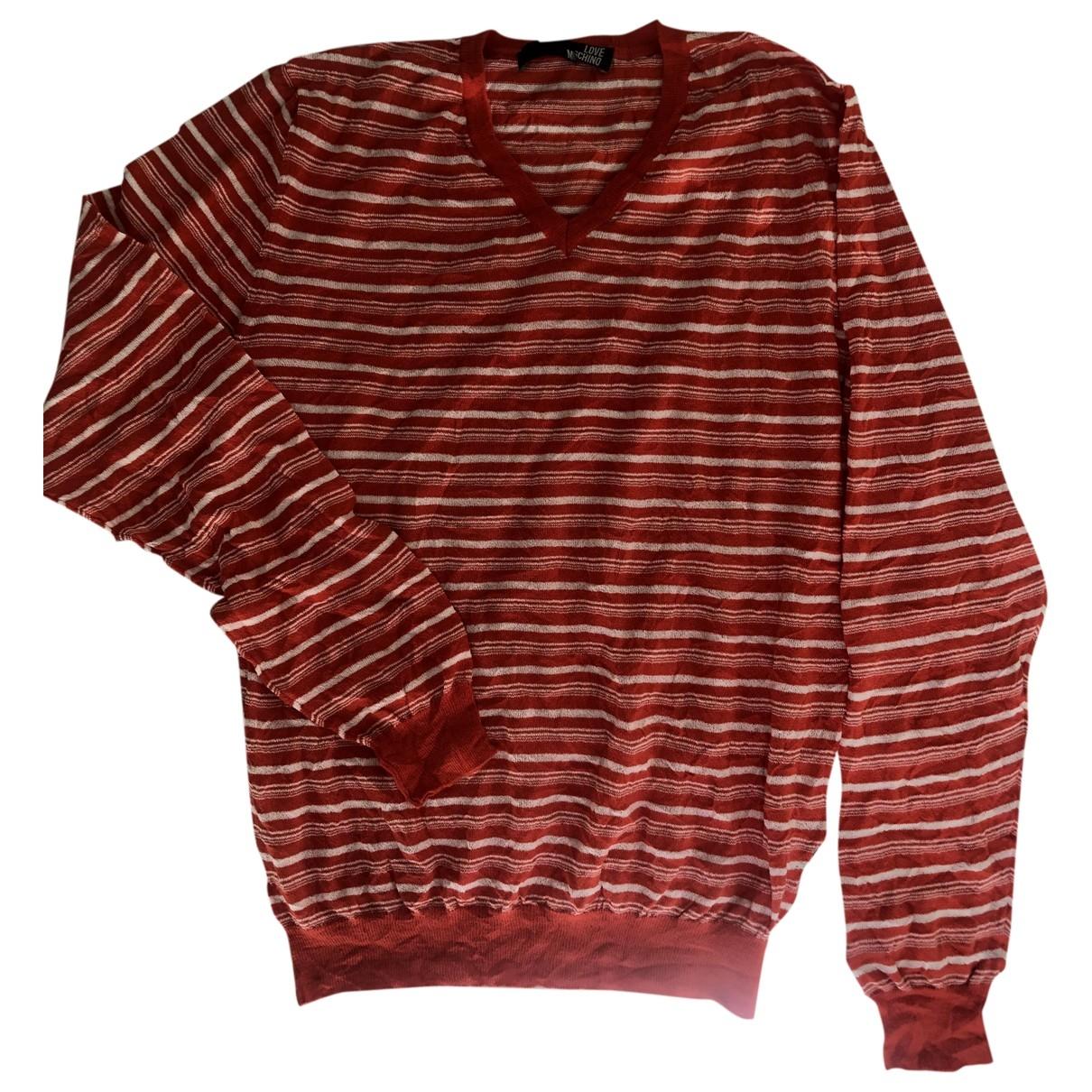 Moschino Love \N Pullover.Westen.Sweatshirts  in  Orange Baumwolle
