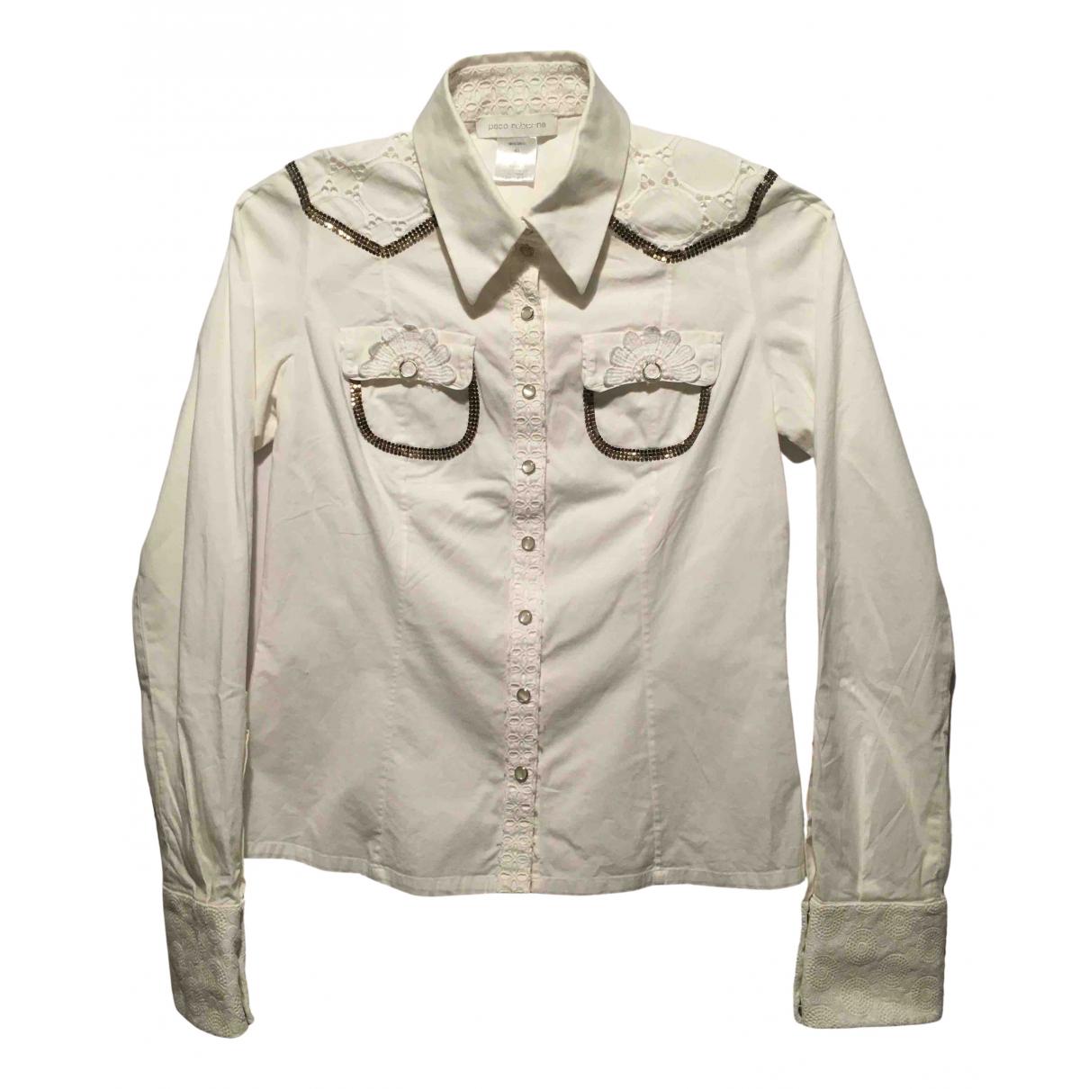 Paco Rabanne - Top   pour femme en coton - blanc