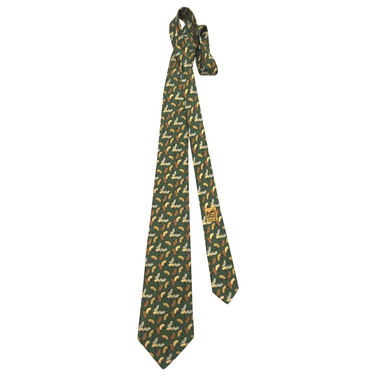 Hermès \N Green Silk Ties for Men \N