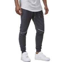 Men Contrast Panel Sweatpants