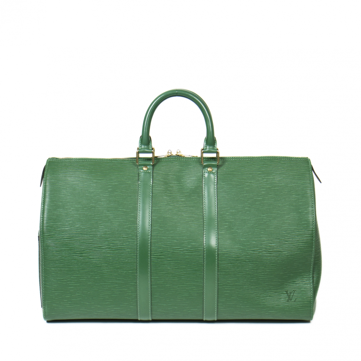 Louis Vuitton Keepall Green Leather Travel bag for Women \N