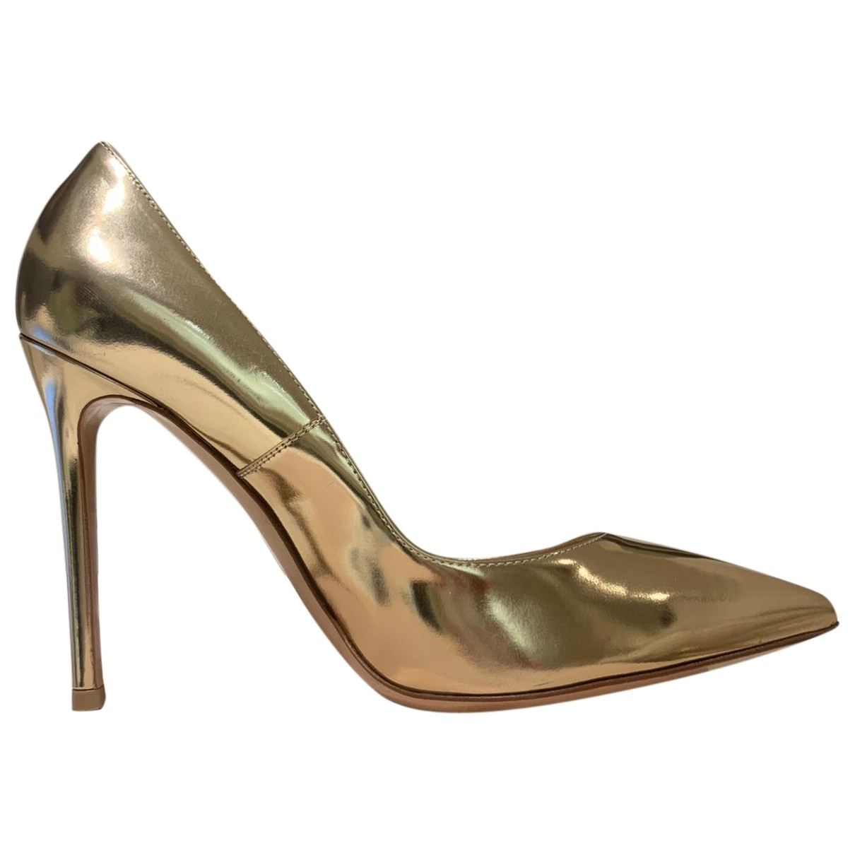 Gianvito Rossi Gianvito Pumps in  Gold Leder