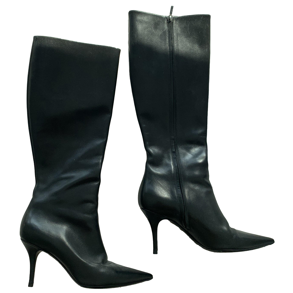 Dior \N Black Leather Boots for Women 40 EU
