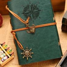 1 Stueck Notizbuch mit PU Deckel und Anhaenger