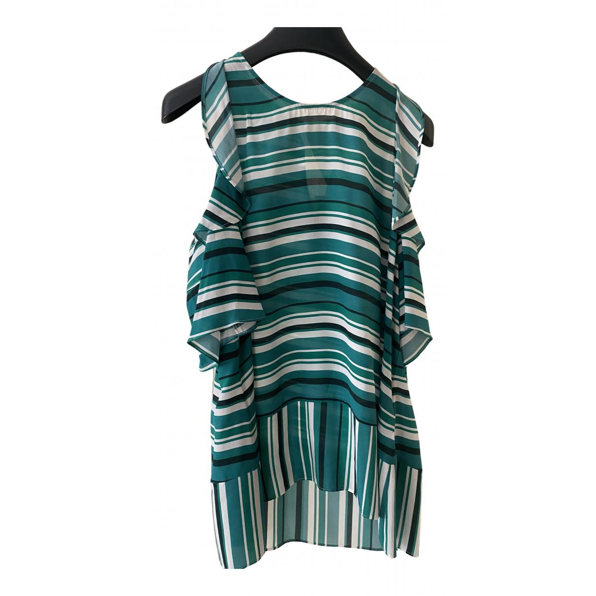 Whistles - Top   pour femme en soie - vert