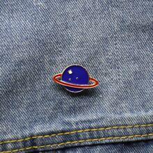 1 pieza broche con diseño de planeta